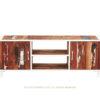 Sixties mueble TV de estructura metálica color blanco y madera reciclada de barco